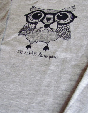 Grey Owl Long Sleeve T-Shirt