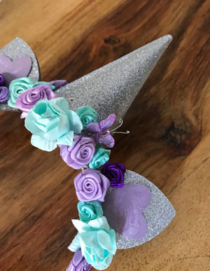 Unicorn Headband Purple & Turquoise