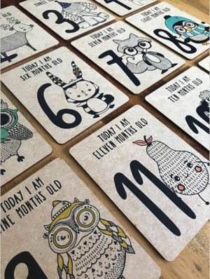 Gender Neutral Milestone Cards – English