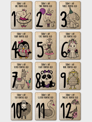Girl Milestone Cards – English