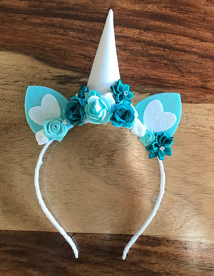 Unicorn Headband Turquoise & White