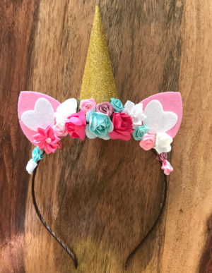 Unicorn Headband Pink, Turquoise & White
