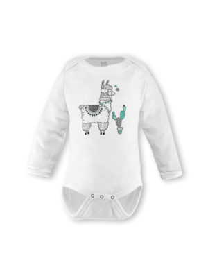 Llama Mint & Grey Long Sleeve (Made-to-Order)