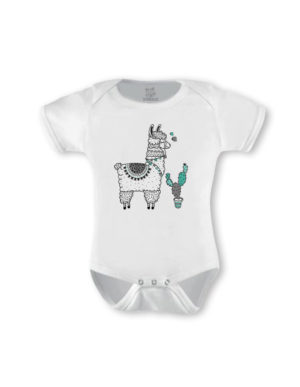 Llama Mint & Grey Short Sleeve (Made-to-Order)