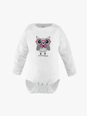 Owl w/Pink Glasses Long Sleeves