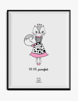 Cat Poster – Pink