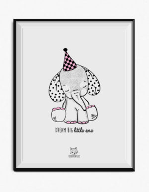 Elephant Poster – Pink
