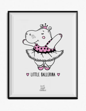 Ballerina Hippo Poster – Pink