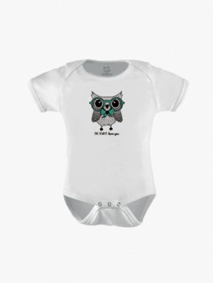 Owl w/Green Glasses Short Sleeve