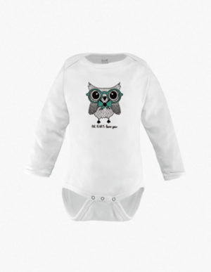 Owl w/Green Glasses Long Sleeves