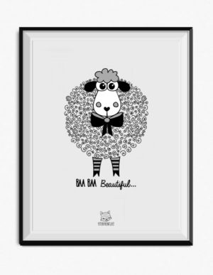 Sheep Poster – Grey